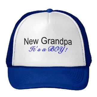 New Grandpa Its A Boy Trucker Hat