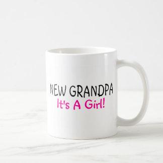 New Grandpa Its A Girl Pink Coffee Mug