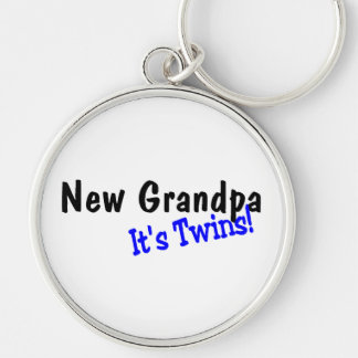 New Grandpa Its Twins Keychain