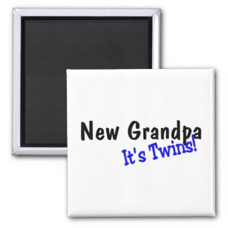 New Grandpa Its Twins Fridge Magnet