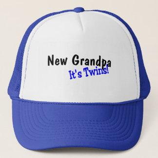 New Grandpa Its Twins Trucker Hat