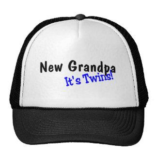 New Grandpa Of Twins Trucker Hat