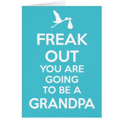New Grandpa To Be Pregnancy Announcement Greeting Cards