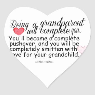 New Grandparents Heart Sticker