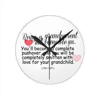New Grandparents Round Clock