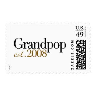 New Grandpop Est 2008 Stamp