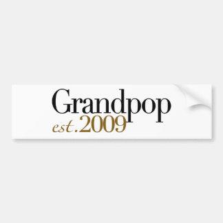 New Grandpop Est 2009 Bumper Sticker