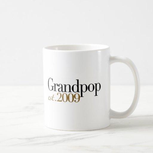 New Grandpop Est 2009 Mugs