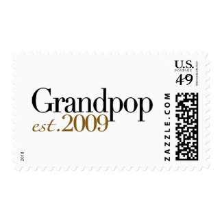 New Grandpop Est 2009 Postage Stamp