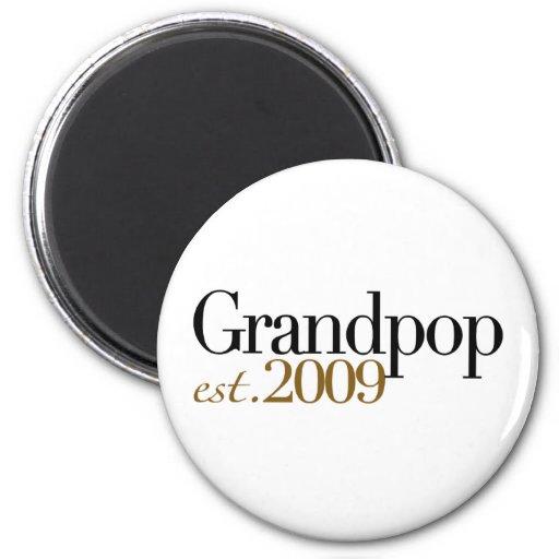 New Grandpop Est 2009 Refrigerator Magnets