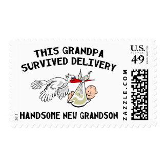 New Grandson Grandpa Survived Delivery Gift Postage