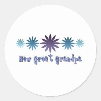 New Great Grandpa Classic Round Sticker