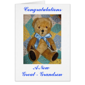 New Great-Grandson Greeting Card