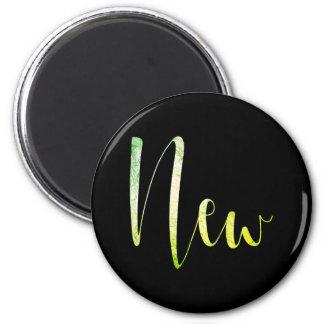 """New"" Greenly Black Blogger Writer Editorial Plan Magnet"