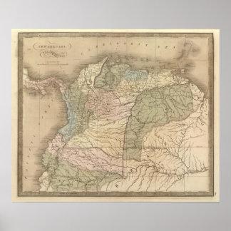 New Grenada, Venezuela, and Ecuador Poster