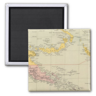 New Guinea and Solomon Islands 2 Inch Square Magnet