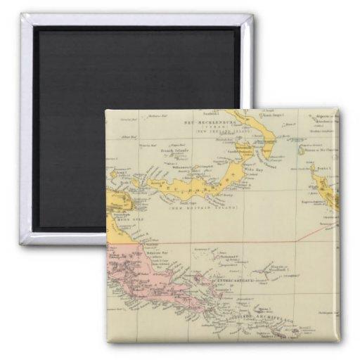 New Guinea and Solomon Islands Fridge Magnets