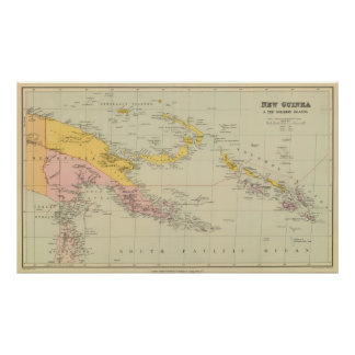 New Guinea and Solomon Islands Poster