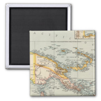 New Guinea, Papuan Archipelago 2 Inch Square Magnet