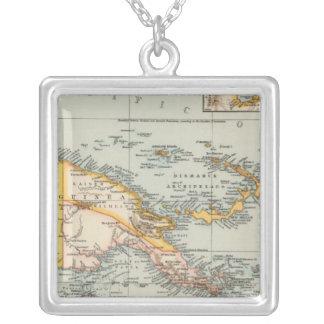 New Guinea, Papuan Archipelago Square Pendant Necklace