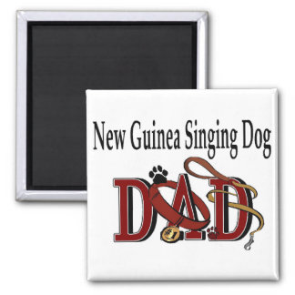 New Guinea Singing Dog Dad Gifts 2 Inch Square Magnet