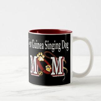 New Guinea Singing Dog Mom Gifts Two-Tone Coffee Mug