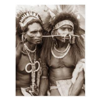 New Guinea Warriors, c1919 Postcard