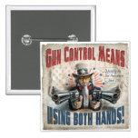 New Gun Rights Gear 2 Inch Square Button