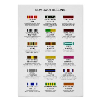 New GWOT Ribbons Posters
