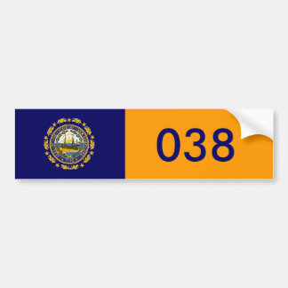 New Hampshire 038 Pegatina Para Auto