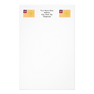 New Hampshire 2nd Regiment Flag Stationery
