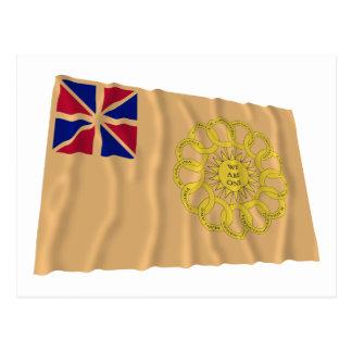 New Hampshire 2nd Regiment Waving Flag Postcard