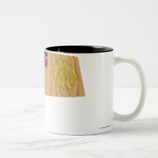 New Hampshire 2nd Regiment Waving Flag Two-Tone Coffee Mug