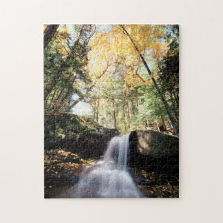 New Hampshire, A waterfall in the White Jigsaw Puzzle
