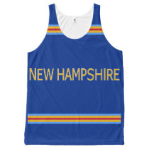 New Hampshire All-Over Printed Unisex Tank