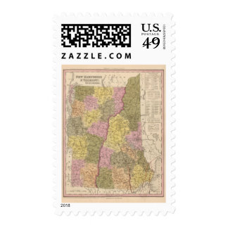 New Hampshire and Vermont 2 Stamps
