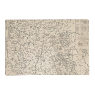 New Hampshire and Vermont Laminated Placemat