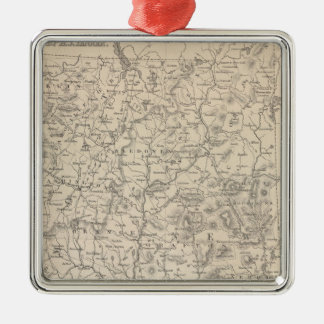 New Hampshire and Vermont Metal Ornament