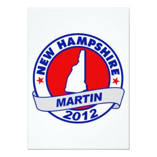 "New Hampshire Andy Martin Invitación 5"" X 7"""
