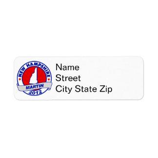 New Hampshire Andy Martin Return Address Label