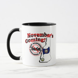 New Hampshire Anti ObamaCare – November's Coming! Mug