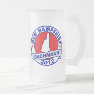 New Hampshire Bachmann Frosted Glass Beer Mug
