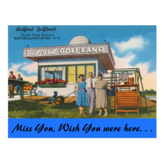 New Hampshire, Bedford Golfland, Manchester Postcard