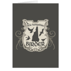 Greeting Card with New Hampshire Birder design
