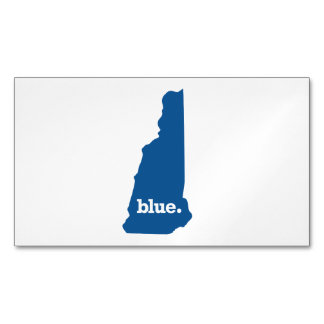 NEW HAMPSHIRE BLUE STATE BUSINESS CARD MAGNET