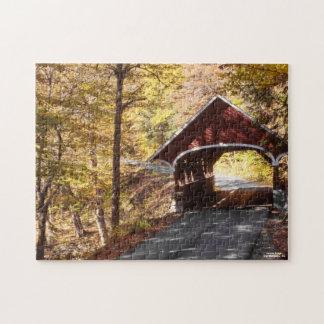 New Hampshire Bridge Beautiful Autumn Scenery Fall Jigsaw Puzzle