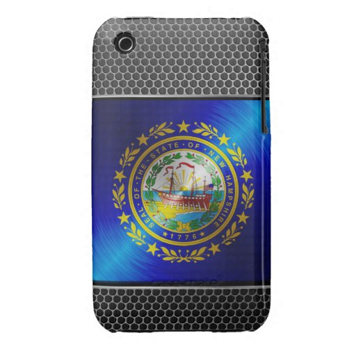 New Hampshire brushed metal flag iPhone 3 Covers