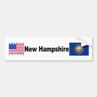 New Hampshire Pegatina Para Auto