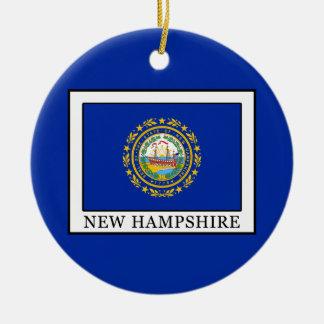 New Hampshire Ceramic Ornament