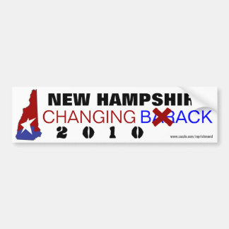 New Hampshire Changing Back 2010 Car Bumper Sticker